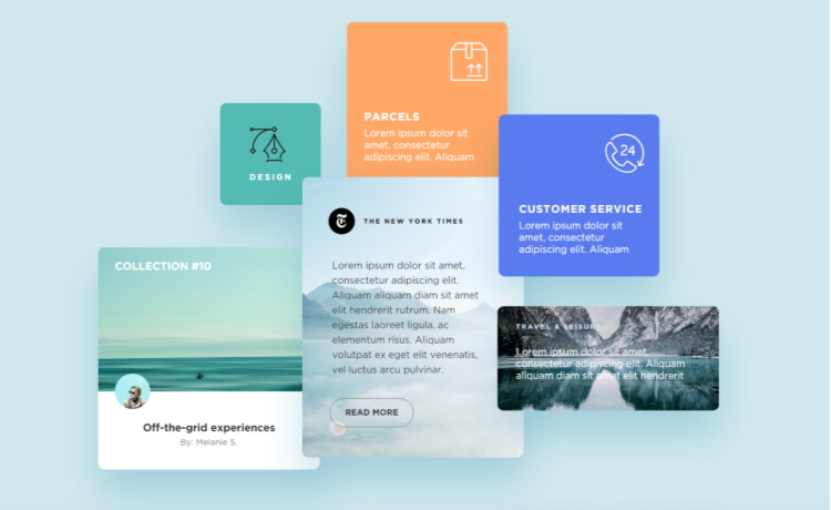 232_Blog Components Free Adobe XD UI Kit
